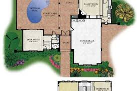 interior courtyard house plans 4 custom courtyard house plans splendid mediterranean with