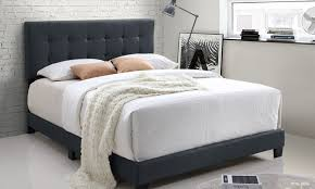 62 off on brookfield upholstered bed groupon goods