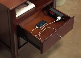 nightstand nightstand with charging station intended for leading