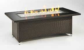 montego counter height table gas fire table balsam montego linear gas fire pit table fire pits
