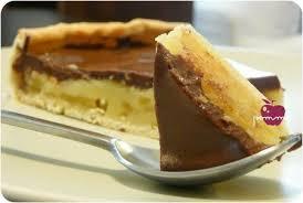 hello fait la cuisine tarte patissière aux pommes et sa ganache chocolatée dans la