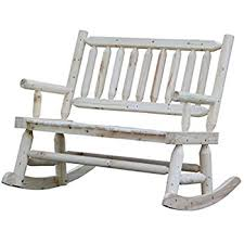 Garden Treasures Patio Bench Amazon Com Garden Treasures Pinewood Outdoor Rocking Chair
