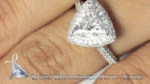 trillion engagement ring er sold 145 2 05 carat d vs1 trillion cut engagement