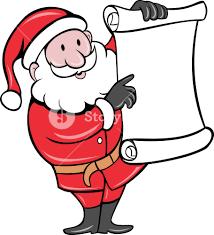 santa claus holding scroll list royalty free stock image storyblocks