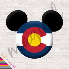 Disney Flag Colorado State Flag Mickey Mouse Head Digital Download Colorado