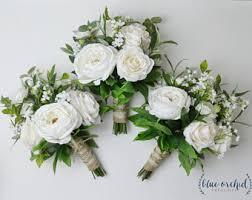 bridesmaid bouquet faux bouquet etsy