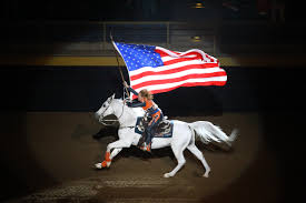 Horse With American Flag The Romance Of Rodeo U2013 Cowboys And Indians Magazine