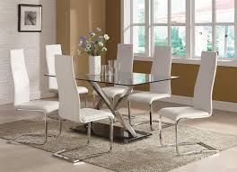 Coaster Dining Room Chairs Coaster Modern Dining Contemporary Dining Room Set With Glass