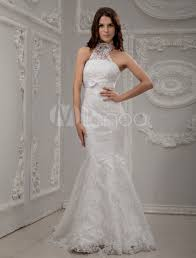 halter neck wedding dresses white halter neck lace bridal mermaid trumpet wedding dress
