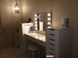 Dressing Vanity Table Furniture Surprising Makeup Table With Lights At Ikea My Vanity