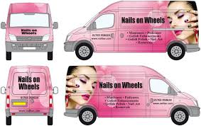 nails salon van graphics www salononwheels co uk business ideas