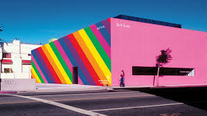 pul smith paul smith s pink boutique partners with instagram on rainbow