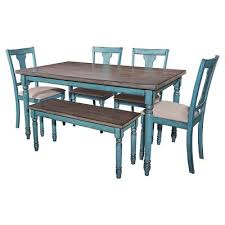Teal Dining Table Teal Dining Oak Grove Collection Target