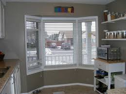 Kitchen Window Shutters Interior Remarkable Bay Window Blinds And Curtains With Plantation Shutters