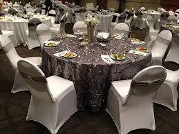table and chair cover rentals don t buy your wedding chair covers rent them am linen rental