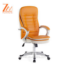orange high back throne leather butterfly chair with armrest pad