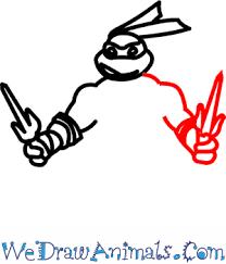draw ninja turtles