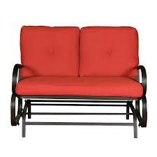 patio loveseat glider sonoma outdoorstm presidio outdoor cushions