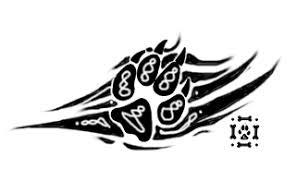 tribal wolf pawprint design by loneychan on deviantart