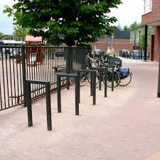 galvanized steel bike rack square enkel grijsen park
