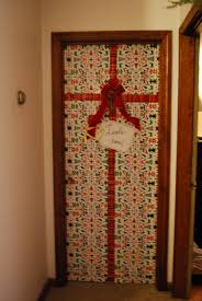 door wrapping paper let it snow let it glow tie a bow deborah curtin