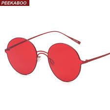 mens light tint sunglasses peekaboo brand vintage retro round sunglasses tinted lens men women