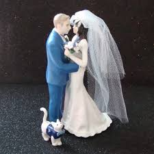 cat wedding cake topper custom wedding cake topper with cat ring bearer www