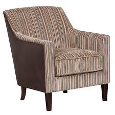 Brown Accent Chair Canterbury Accent Chair Brown Stripe Chocolate Leather Effect