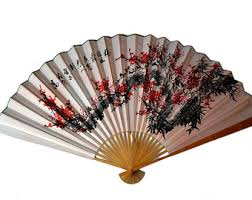asian fan asian wall decor etsy