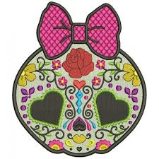 sugar skull day of the dead dia de los muertos filled machine embroidery design digitized pattern 700x700 jpg
