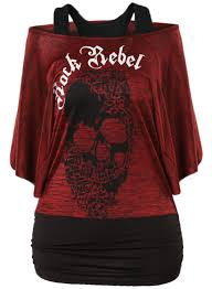 womens halloween shirt cold shoulder batwing sleeve halloween skull tee azbro com