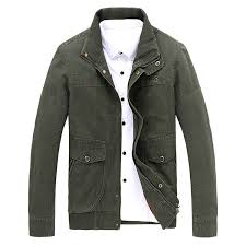 jeep rich jacket mens plus size s 6xl winter washed cotton jackets stand collar