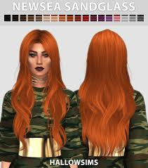 hair color to download for sims 3 newsea sandglass hair for the sims 4 the sims 4 downloads cc
