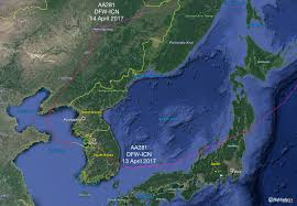 Korean Air Route Map by A Look At Airspace In North Korea And The Surrounding Area