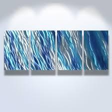 metal wall art decor abstract contemporary modern sculpture