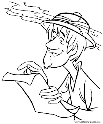 scooby doo printable coloring pages archaeologist shaggy scooby doo c5e4 coloring pages printable