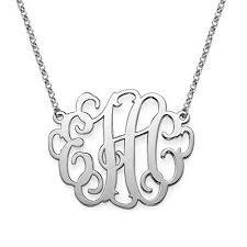 Monogramed Jewelry Xxl Monogram Necklace 2 Inches Statement Monogrammed Jewelry