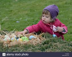easter plays for children cazma croatia 26th mar 2016 a child plays with easter eggs at