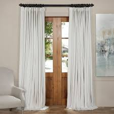 Extra Wide Window Blinds Oversized Exclusive Fabrics Off White Velvet Blackout Extra Wide Curtain
