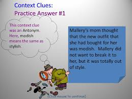 codes strategy for using context clues vocabulary in context how