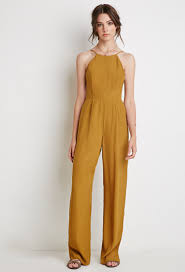forever 21 jumpsuits forever 21 yellow low back halter jumpsuit pesquisa