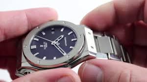 blue titanium bracelet hublot images Pre owned hublot classic fusion titanium jpg