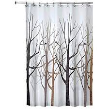 Shower Curtains With Trees Interdesign Forest Fabric Shower Curtain 72 X 72