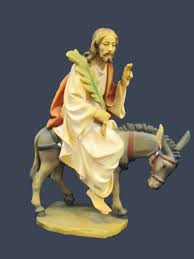 jesus on donkey statue