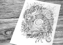cat dragon coloring book page by hontor on deviantart