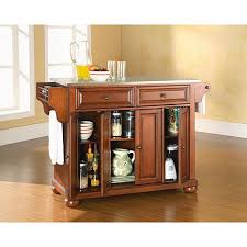 kitchen islands with stainless steel tops crosley alexandria stainless steel top kitchen island classic