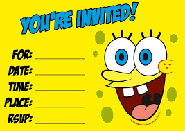 spongebob birthday invitations kawaiitheo