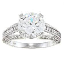 cubic zirconia engagement rings white gold alyssa jewels 14k white gold 3ct tgw clear cubic zirconia