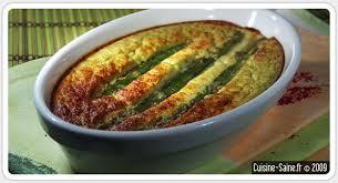 cuisine asperge recette bio flan d asperges vertes cuisine saine sans