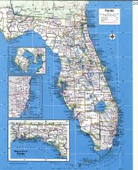 Florida Elevation Map by Detailed Map Of Florida The West